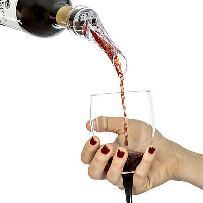 Premium White Red Wine Aerator Pour Spout Bottle Pourer Aerating Decanter TOP