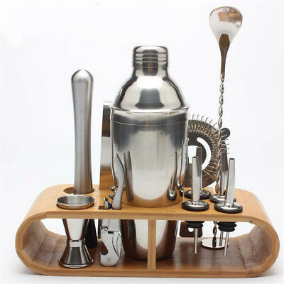 COCKTAIL SHAKER SET Mixer Martini Spirits Bar Spoon Tongs Jigger Strainer GN