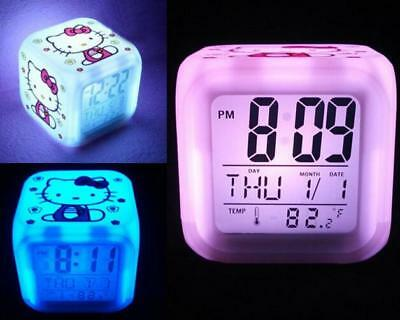 Alarm Clock for Children Morning Hello Kitty 7 Colors New Beautiful Meir