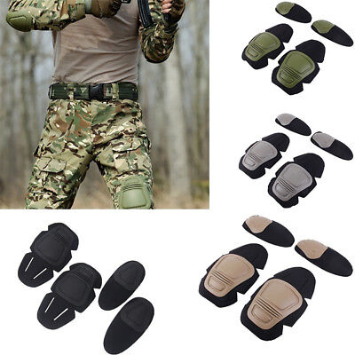 ALS_ Tactical Protective Knee Pad Elbow Support Gear Sport Hunting Shooting Reli