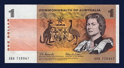 Rare $1 Australian Banknote 1966 Coombs & Wilson First 'commonwealth' Banknote