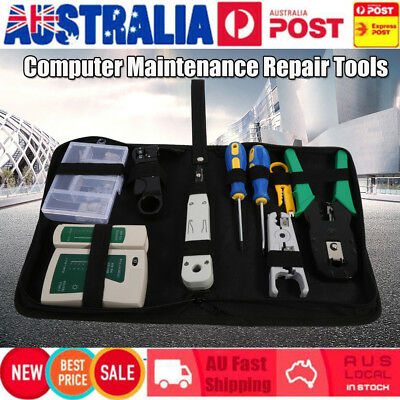 RJ45 RJ11 Network Cable Tester Crimper Punch Down Tool Stripper Punch Down AU
