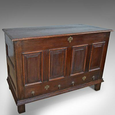 Antique Mule Chest, English, Oak, Trunk, Georgian, Circa 1800