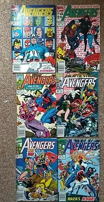 The Avengers Issues 329 342,344,345,349 and 351.
