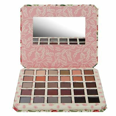 Vintage Eyeshadow Palette & Mirror 30 Shimmer Pigment Shades By Body Collection
