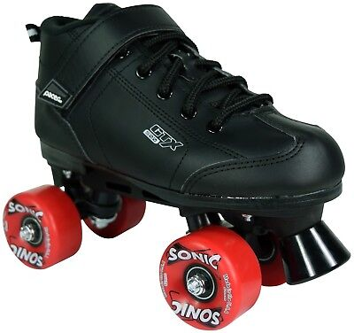 Black And Red Pacer Gtx 500 Sonic Outdoor Speed Roller Skates