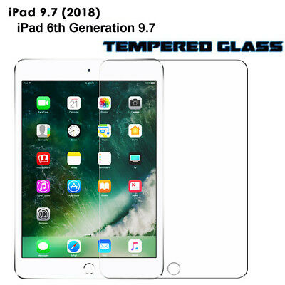 Real-Genuine Tempered Glass film LCD Screen Protector for iPad 6th Gen 9.7/2018