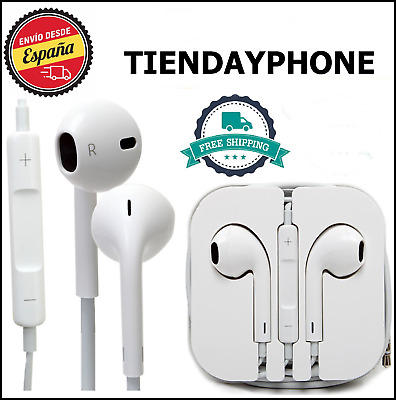 AURICULARES IPHONE BLANCO compatible JACK IPHONE 5,6,6S ANDROID SAMSUNG XIAOMI