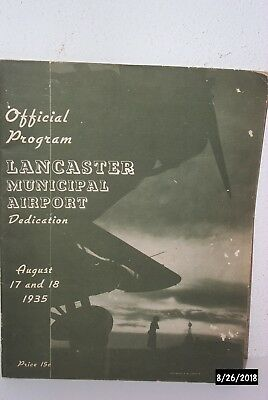 Lancaster Municipal Airport Lancaster  Pa  Dedication Program 1935