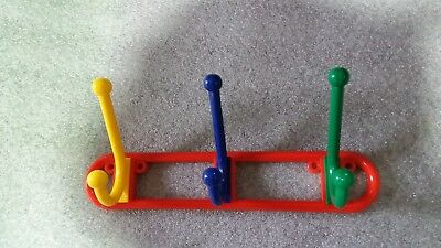 Kids, Hat And Coat Hooks Multi Coloured Triple Funky  Door Hooks ,New in packet.