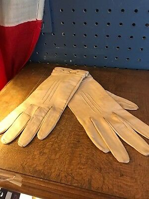 Vintage Ladies Leather Gloves Small