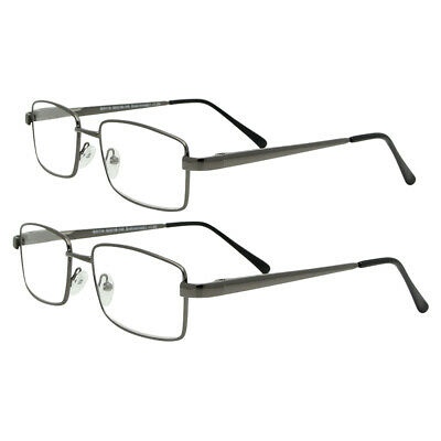 Large Metal Strong reading glasses spectacles ladies mens 2 pairs 1.5 2.0 2.5 3