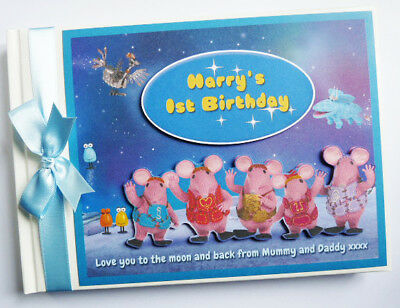 Personalised Clangers Tv Characters Birthday Guest Book - Any Design