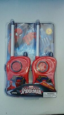 MARVEL SPIDER-MAN Ultimate Toy 2 pc WALKIE TALKIE Set with Belt clips