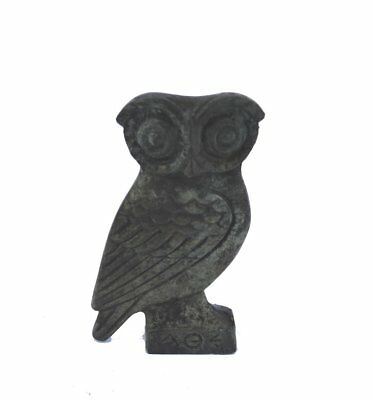 Owl the wise miniature sculpture ancient Greek reproduction
