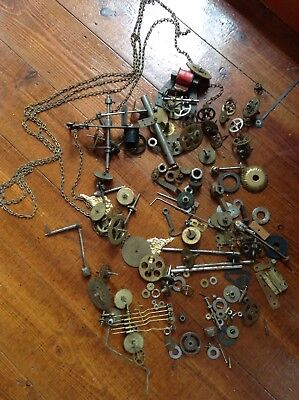 Antique Vintage Spares Repair Clock Parts Cogs And Gears Cuckoo Parts? + Other