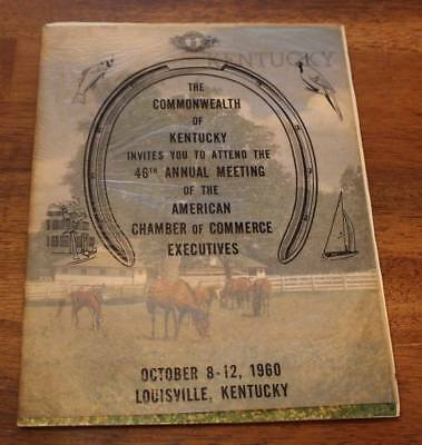 VTG Tourist Booklet 1960 Commonwealth of Kentucky Invite Attend 46th Louisville