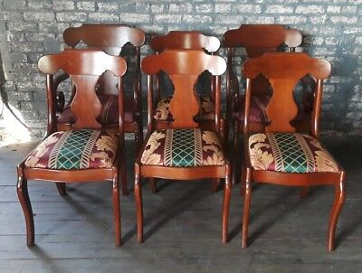 Nice Set 6 Vintage Pennsylvania House Solid Cherry Dining Chairs As Is