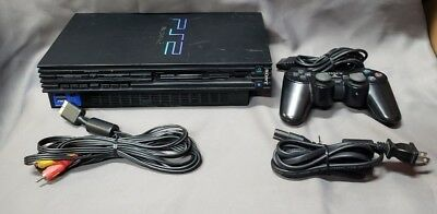 Sony PlayStation 2 PS2 Fat Console Black *AS IS FOR PARTS* (E573)
