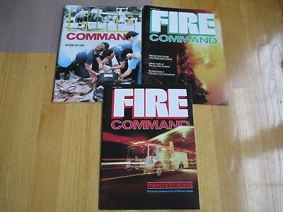 Lot Of 3 Nfpa Fire Command Magazines 4/84 10/84 3/85 Boston Arson Engine Truck