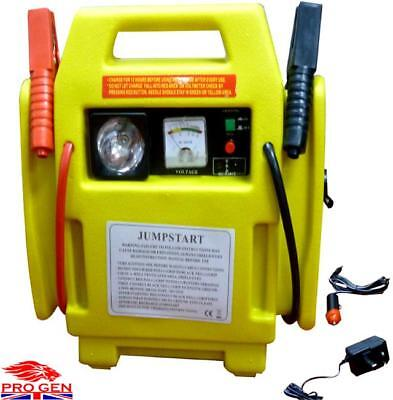 Battery 12V Start Portable Car Jump Starter Air Compressor Booster Charger Leads