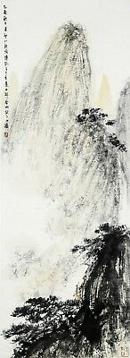 A Chinese Ink and Color Scrolling Painting by Fu Baoshi  傅抱石