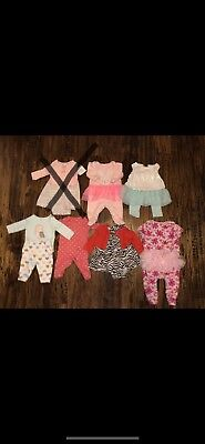 Baby Girl Newborn 0/3 3 Months Fall Winter Outfits Clothes LOT