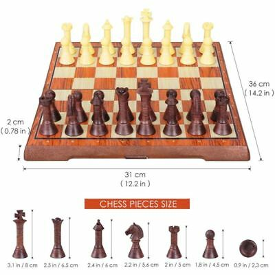 iBaseToy Magnetic Travel Chess Checkers Set Portable Chess Board