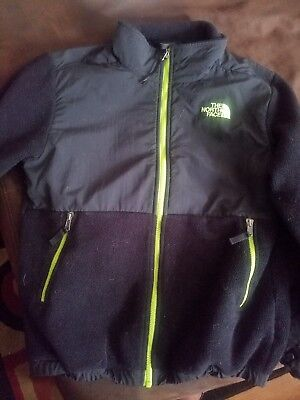 North Face Youth Boys Fleece Full Zip Black size Large 14/16