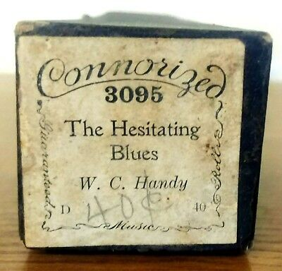 The Hesitating Blues - W. C. Handy Connorized 3095 Piano Roll Music Original