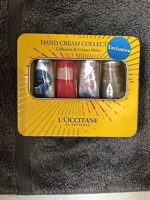 New L'OCCITANE Hand Cream 4 X 30ml  In A Gift Tin Worth £32