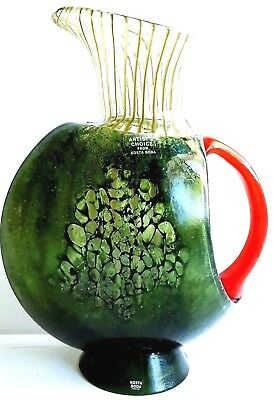 Eclectic Modern Kosta Boda Sweden Art Glass Carafe - 10-1/2' Tall - Signed