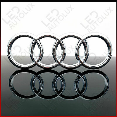 New Chrome Front Grill Badge Ring Logo Emblem Audi C7 Q3 Q5 Q7 285x99mm Silver