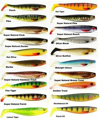 Fox Rage Pro Shad Natural Classics 2 II 10 & 14 & 18 & 23 & 28 cm SUPER NATURAL