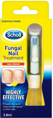 SCHOLL FUNGAL NAIL TREATMENT KILLS 99.9% of nail Fungus, 3.8ml system+nail files
