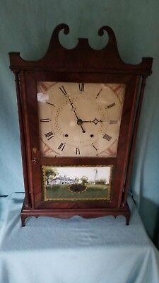 Eli Terry And Sons Pillar & Scroll Wooden Works  Wooden Movement  Ant. Clock