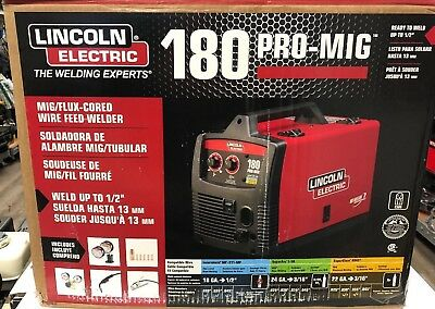 New! Lincoln Electric Welding Pro-Mig 180 Wire Feed Welder K2481-1