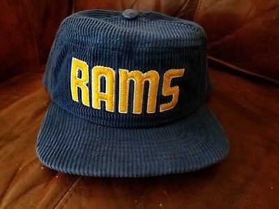 LA Rams Vintage New Era Corduroy Hat NFL 5 Panel Snapback Los Angeles Superbowl