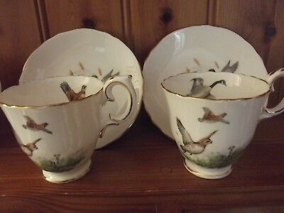 Crown Staffordshire Espresso Coffee Set Ft Ducks