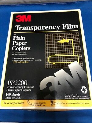 "3M Transparency Film For Copiers 75 Sheets 8.5"" x 11"" PP2200"