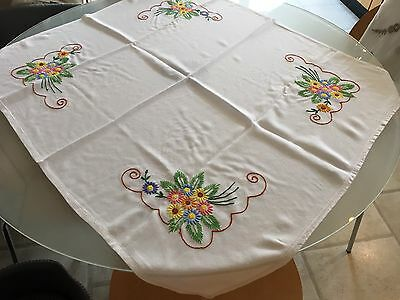 Vintage Hand Embroidered Small Tablecloth.
