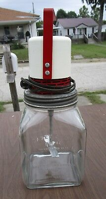 Antique Dazey Churn No. 40  Glass St. Louis USA  Wards Electric Churn