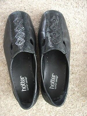 Hotter comfort concept black all leather shoes size 5. new