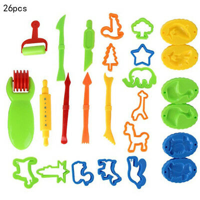 26pcs Kit Making Plasticine DIY Colorful Mud Toy Mould Clay Tools Squeezer Play