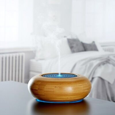Made by Zen ARRAN Bamboo Diffuser - Aromatherapy, Ultrasonic, Mode Light + Oil