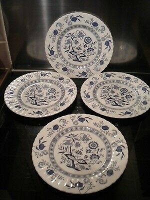 """4 Classic J & G Meakin Blue Nordic Dinner Plates 10"""""""