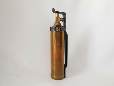 Small Size Antique Brass Motorcycle Fire Extinguisher Pressure Cylinder Mount