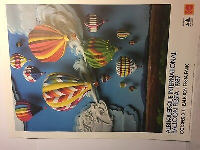 1987 Kodak Albuquerque International Balloon Fiesta Poster~Mint~Vintage!
