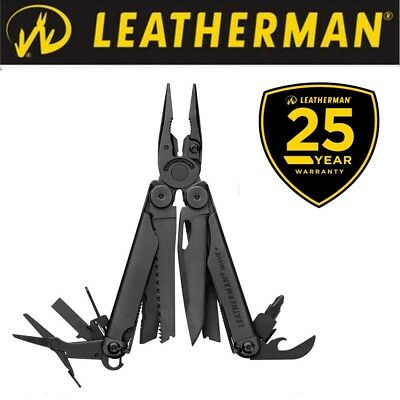 New Leatherman Wave Plus+ Black  2018 with Molle Sheath - FREE SHIPPING