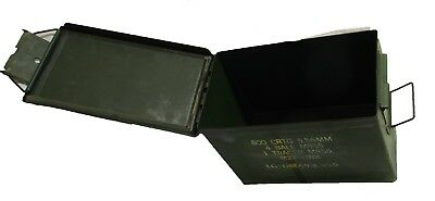 Lot of 10 ARMY Surplus PA108  Ammo Cans w/lid 12x7x8.5 Fat 50 Ammunition 5.56 mm